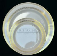 "Disposable Plastic Christmas Plates. "" OCCASIONS"" 50 piece ..."