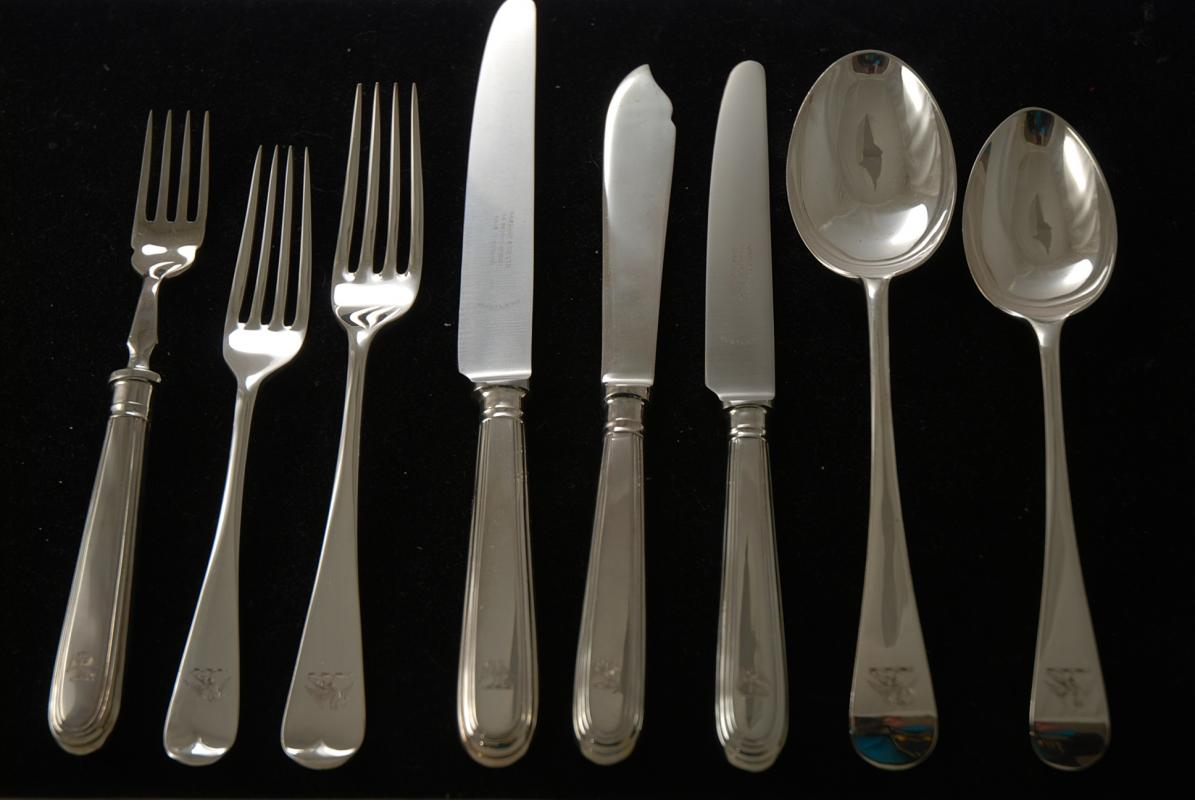Silver Plated Silverware Wallace 5116571 Lorelai 65 Piece