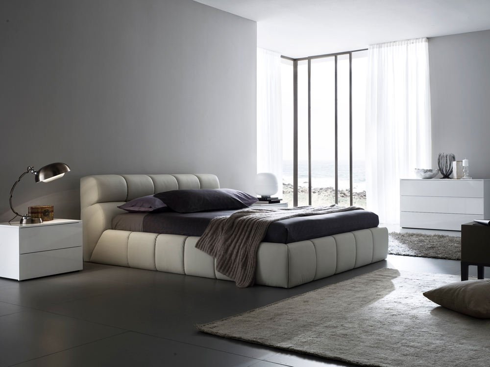 White Twin Bed With Storage Nuvola Leather Platform Bed