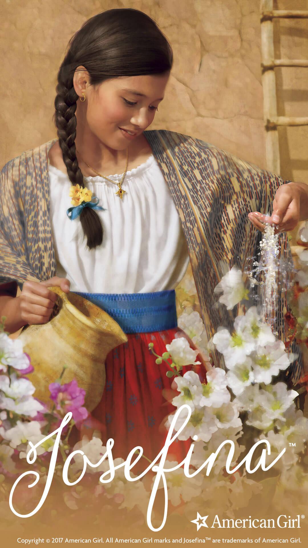 Glowing Girl Wallpaper Josefina Montoya 1824 Beforever Play At American Girl