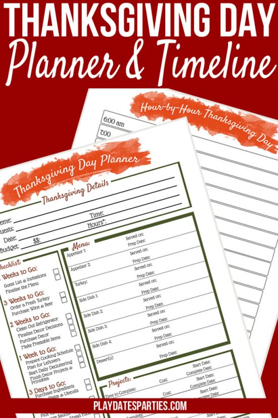 Your All-in-One Printable Thanksgiving Dinner Planner