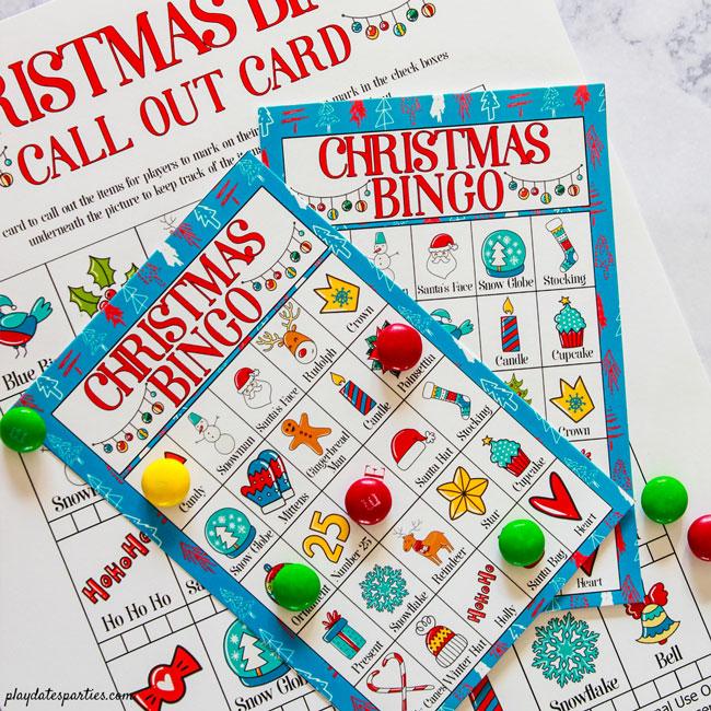 Free Printable Christmas Bingo Cards for Kids