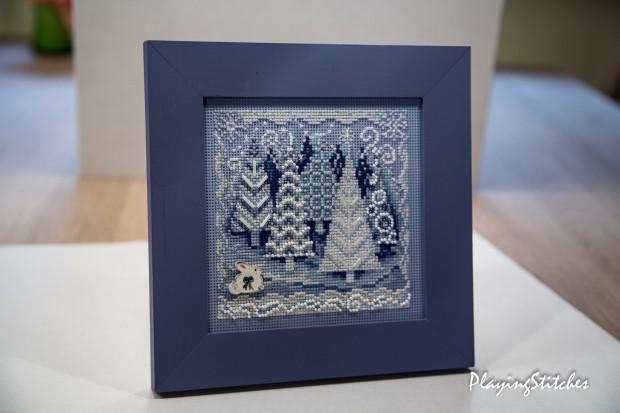 [:ru]Милл Хилл снежный лес вышивка на перфорированной бумаге бисер зайчик
