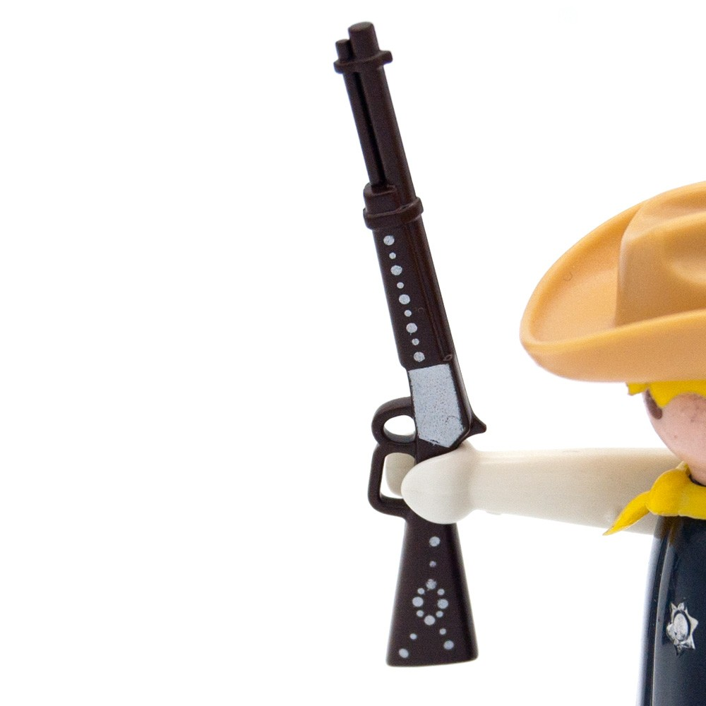 Mobili Fucili Fucile Winchester Brown Decorate Argento Fucile West Playmobil