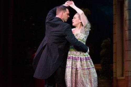 Dieter Bierbrauer (Captain von Trapp) and Billie Wildrick (Maria) in that dance number that changes everything. Photo by Rich Ryan Photography