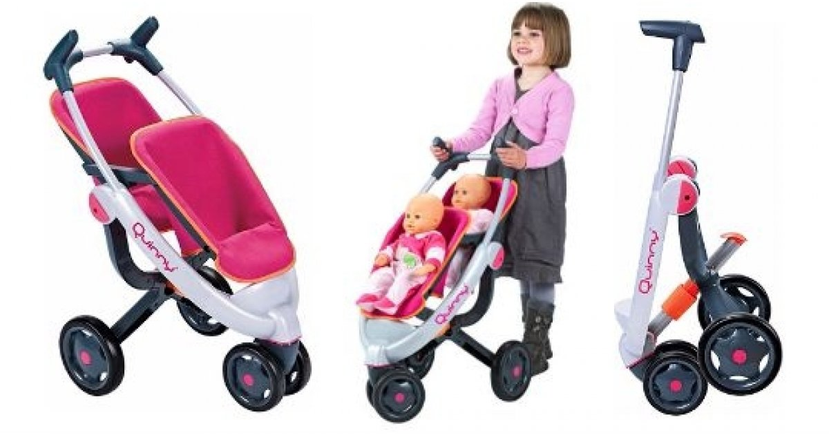 Baby Pram Double 45 Off Smoby Maxi Cosi Quinny 3 Wheel Doll 39;s Twin