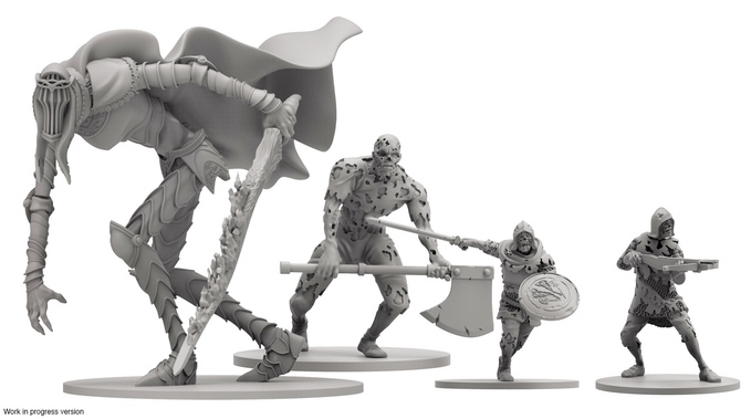 Miniatures form the dark souls board game