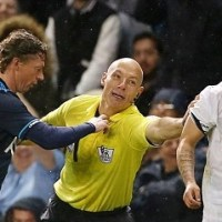 Lewis Holtby Takes Out Howard Webb, Who Takes Out Lewis Holtby