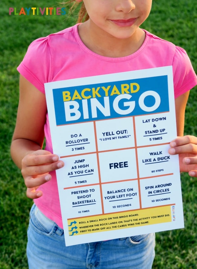 Backyard Bingo Game Will Keep Kids Active - PLAYTIVITIES