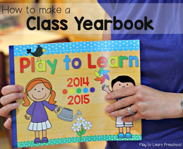 How to make a Preschool Yearbook for your Class