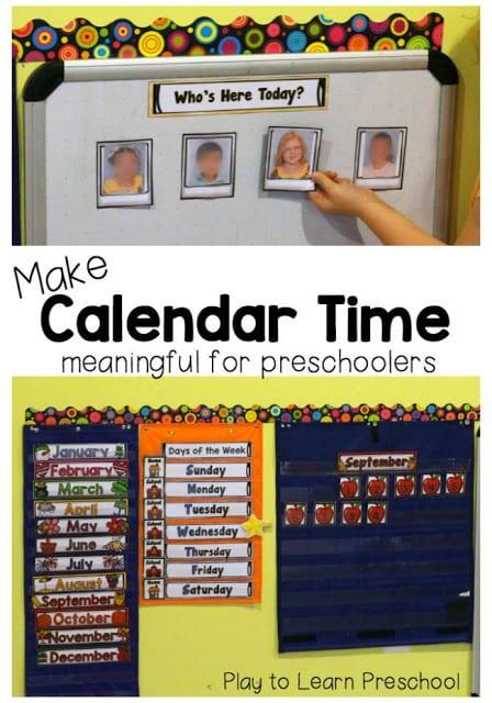 Make Calendar Time Meaningful for Preschoolers - make photo calendar