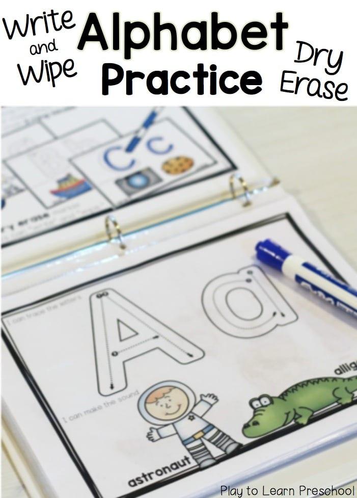 Alphabet Practice Write  Wipe Printable Pages - practice alphabet writing