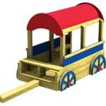 Wood playground wooden chuck wagon