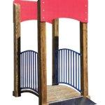Wood playground wooden mini-bridge