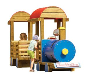 Wood playground wooden passenger locomotive