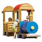 Wood playground wooden passenger locomotive