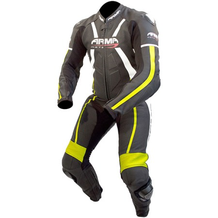 Armr Moto Harada R Leather Motorcycle Suit Black/Yellow