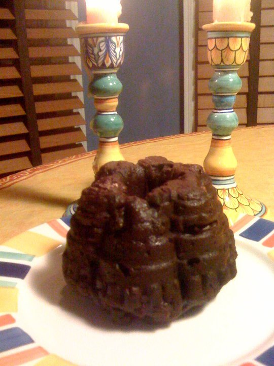 "Chocolate Cherrybomb Fruitcakes, or Senor Cuervo says,""Feliz Navidad!"""