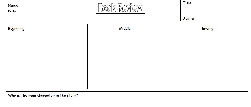 Teacher Resource Book Review Template for pupils Software - book review template
