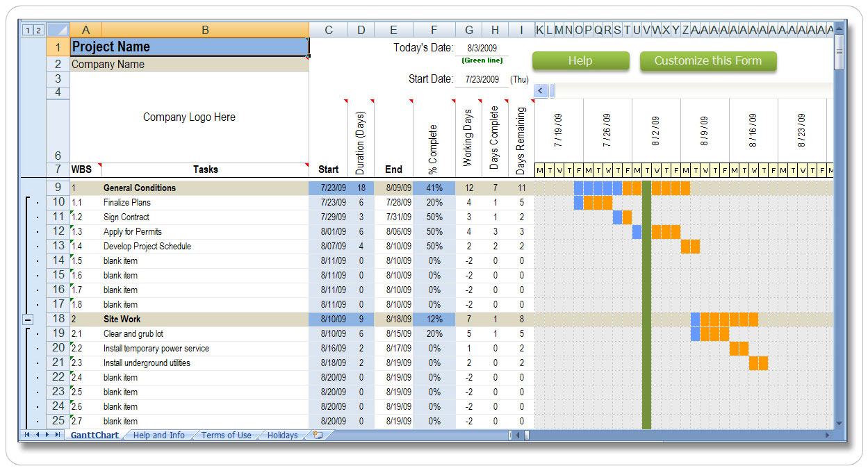 Microsoft Project Construction Schedule Template microsoft word ...