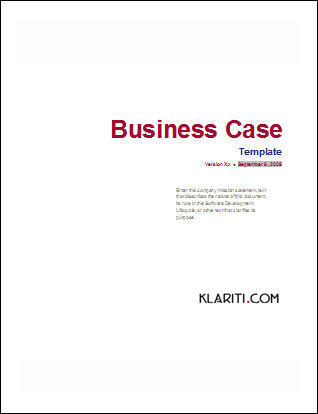 Business Case Template Software Software Templates