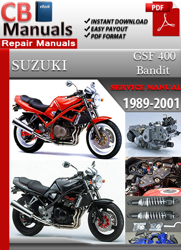 Suzuki Bandit GSF 400 1989-2001 Service Repair Manual eBooks