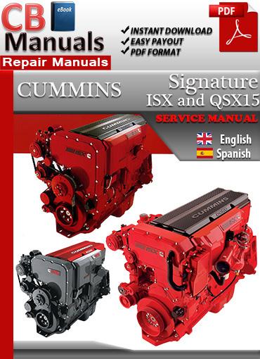 Cummins Signature ISX and QSX15 Service Repair Manual eBooks