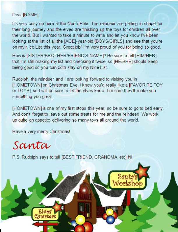Santa Letter Template-North Pole Design Other Files Patterns and