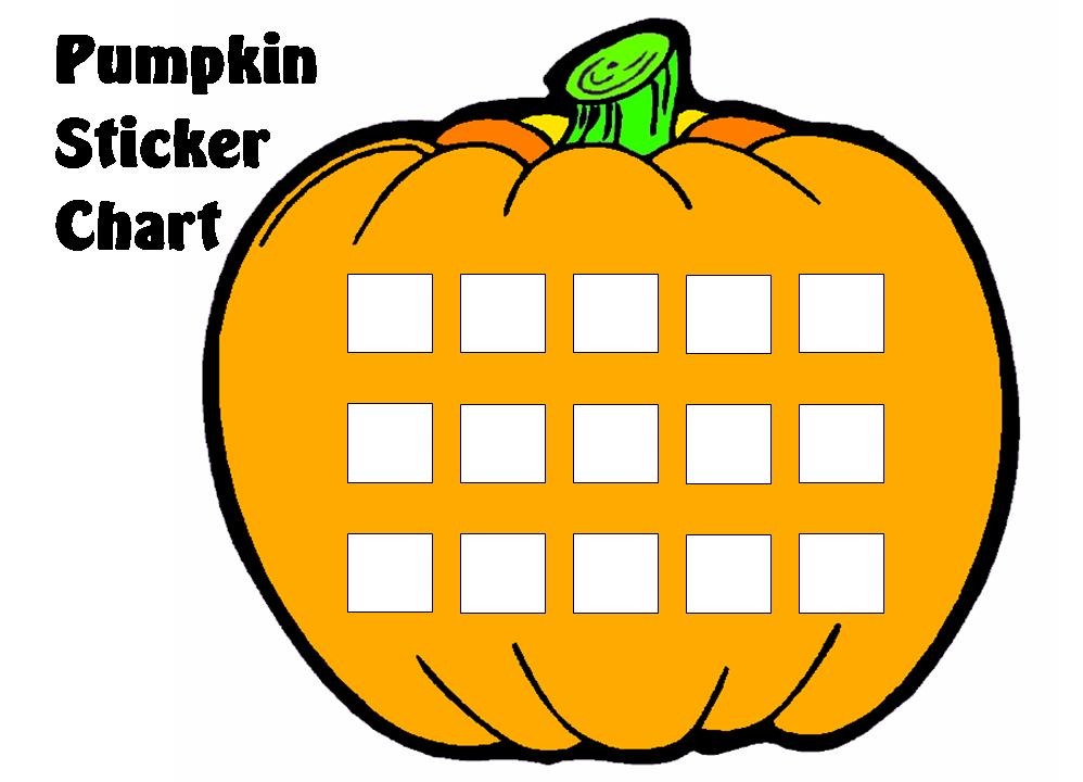 Pumpkin Sticker Chart Set Other Files Documents and Forms