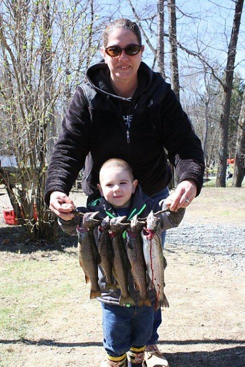 Christian Edmonds age 3, caught 5 fish.