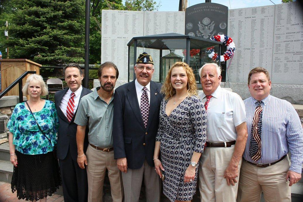 The Pleasant Valley Town Board: Supervisor Carol Campbell, Steve Latino, Mark Figliozzi, Commander Carl Rennia, Lisa Milicaj, Steve Albrecht, Legislator Don Sagliano