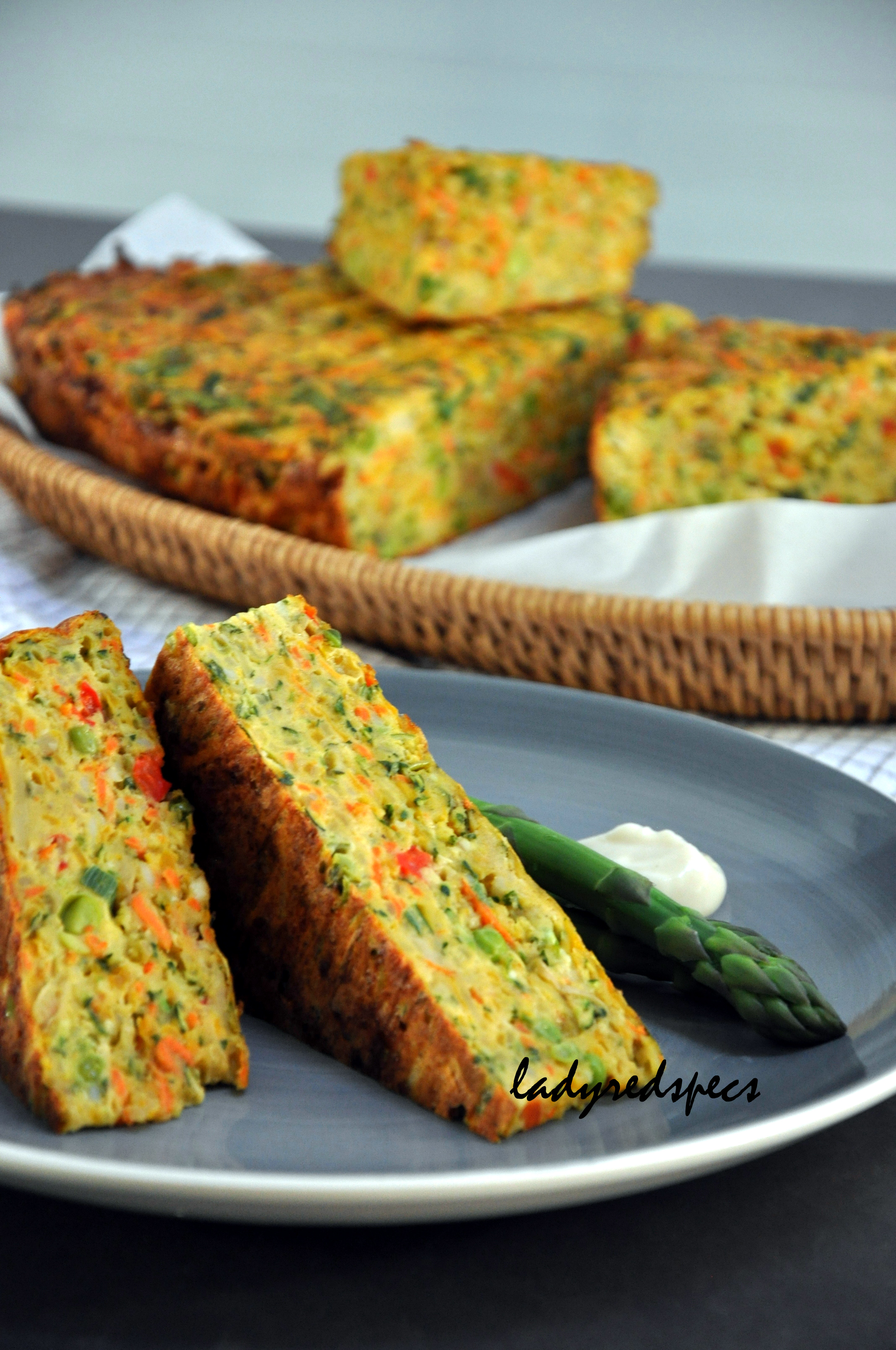 Lunch Sandwich Savoury Vegetable Cake | Please Pass The Recipe