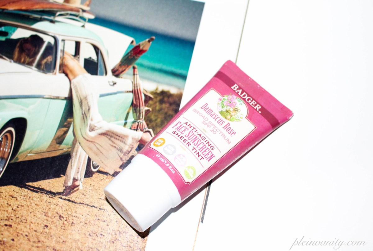 In Tinted Wonder: Badger SPF 20 Damascus Rose Tinted Face Sunscreen