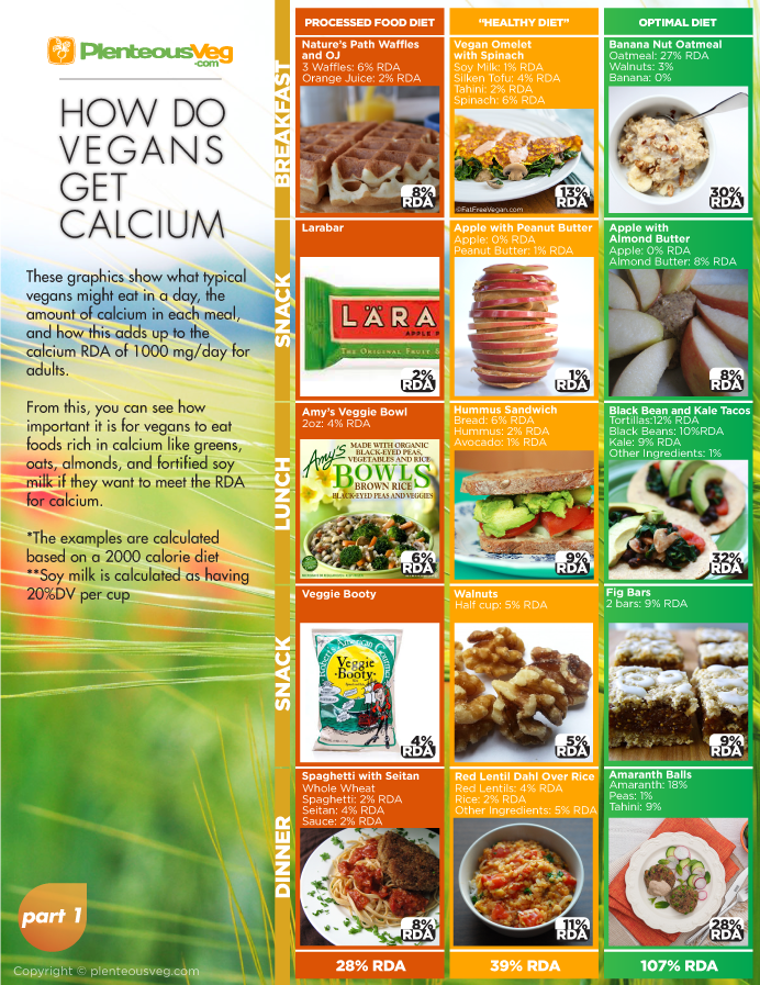 How Do Vegans Get Calcium? (Infographic)