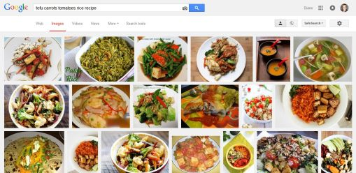 searching for recipes