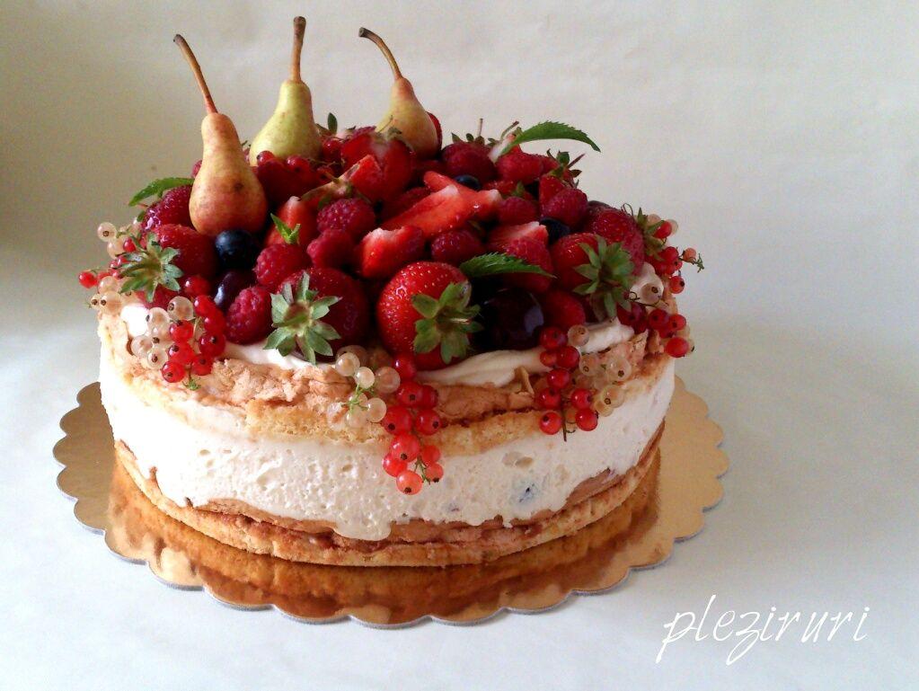 Tort Fructe Bezea Migdale Prajitura Ciocolata Padure Pleziruri