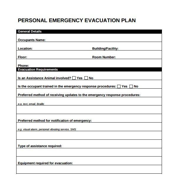 Home Fire Evacuation Plan Template 10 Evacuation Plan Templates