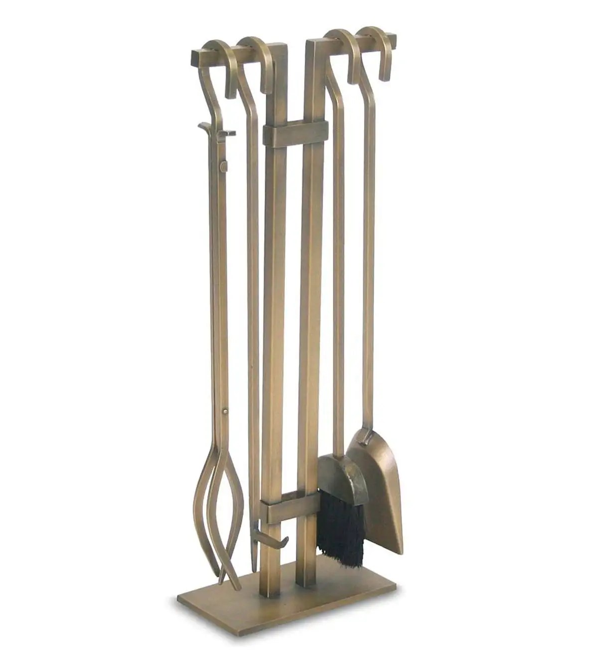 Fireplace Poker Sets Sinclair 4 Pc Brushed Brass Fireplace Tool Set