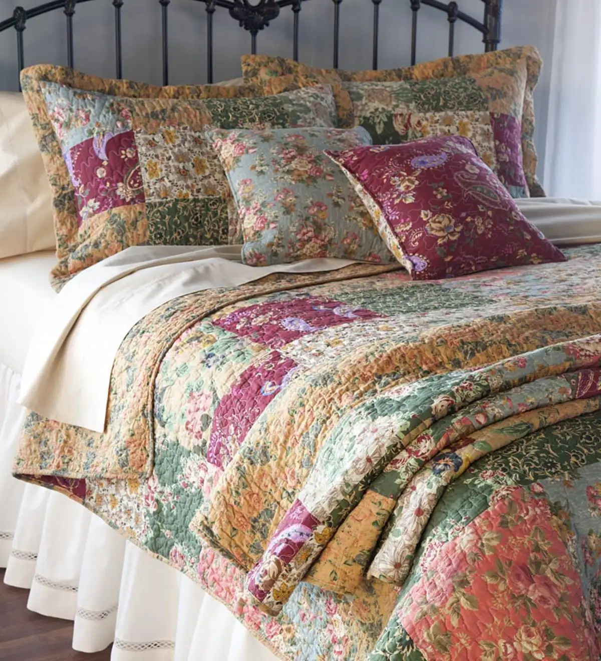 Quilt Sets Cotton Floral Paisley Patchwork Quilt Sets Throw And Pillows