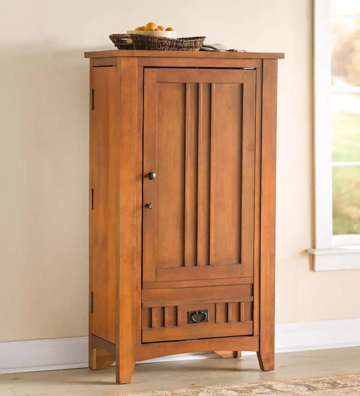 Maple Mission Style Bar Cabinet Plowhearth