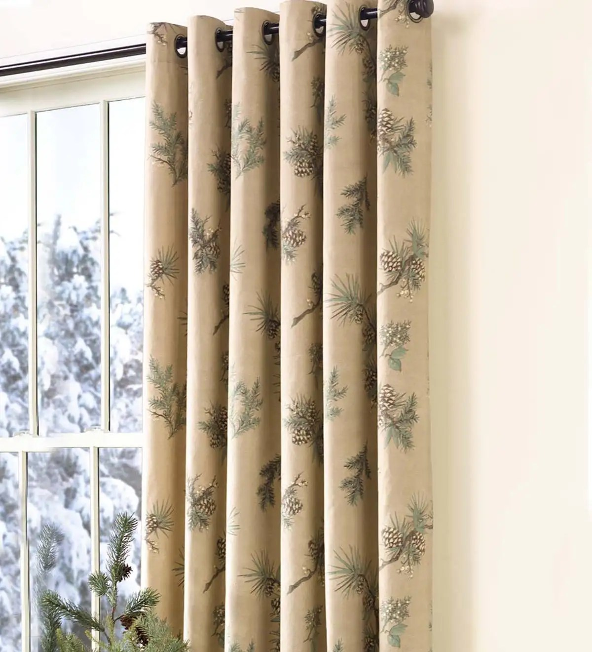 Curtain Cleaning Sydney Thermalogic Insulated Peaceful Pine Grommet Top Curtains