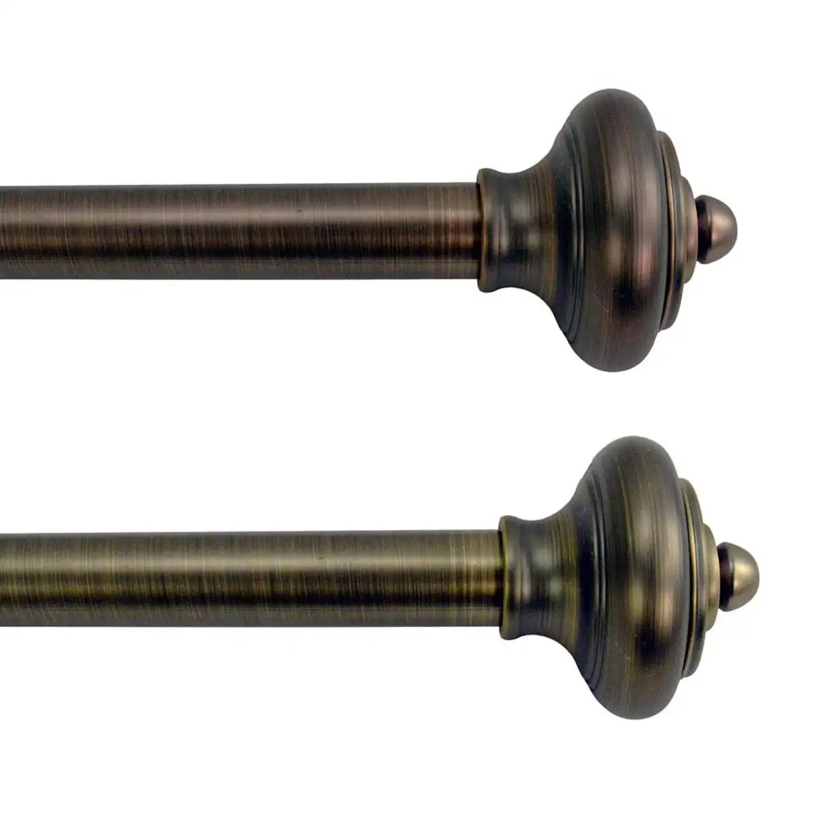 Adjustable Curtain Rods Lexington Adjustable Curtain Rod Collection With Royale Finial