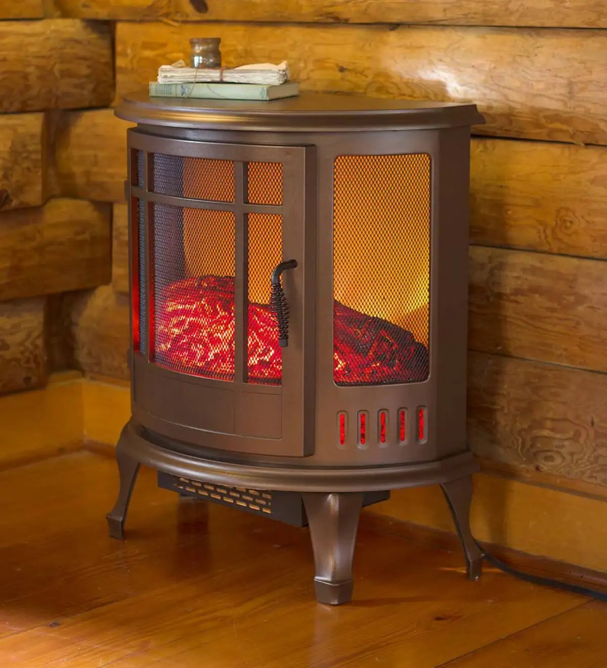 Curved Electric Fireplace Curved Panoramic Electric Fireplace Stove Plowhearth