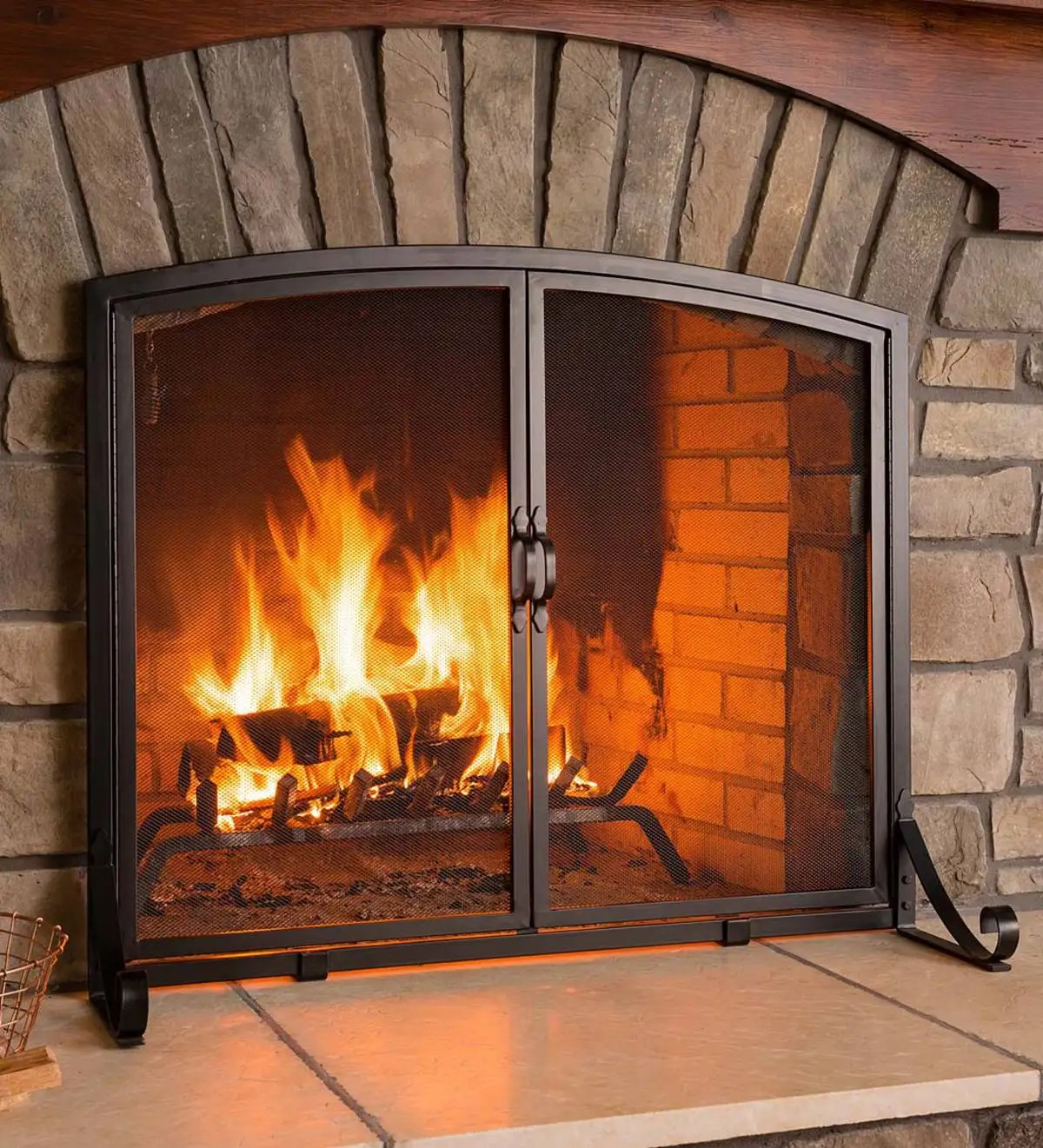 Small Fireplace Screens Under 30 Wide Arched Top Flat Guard Fireplace Screen With Doors Large