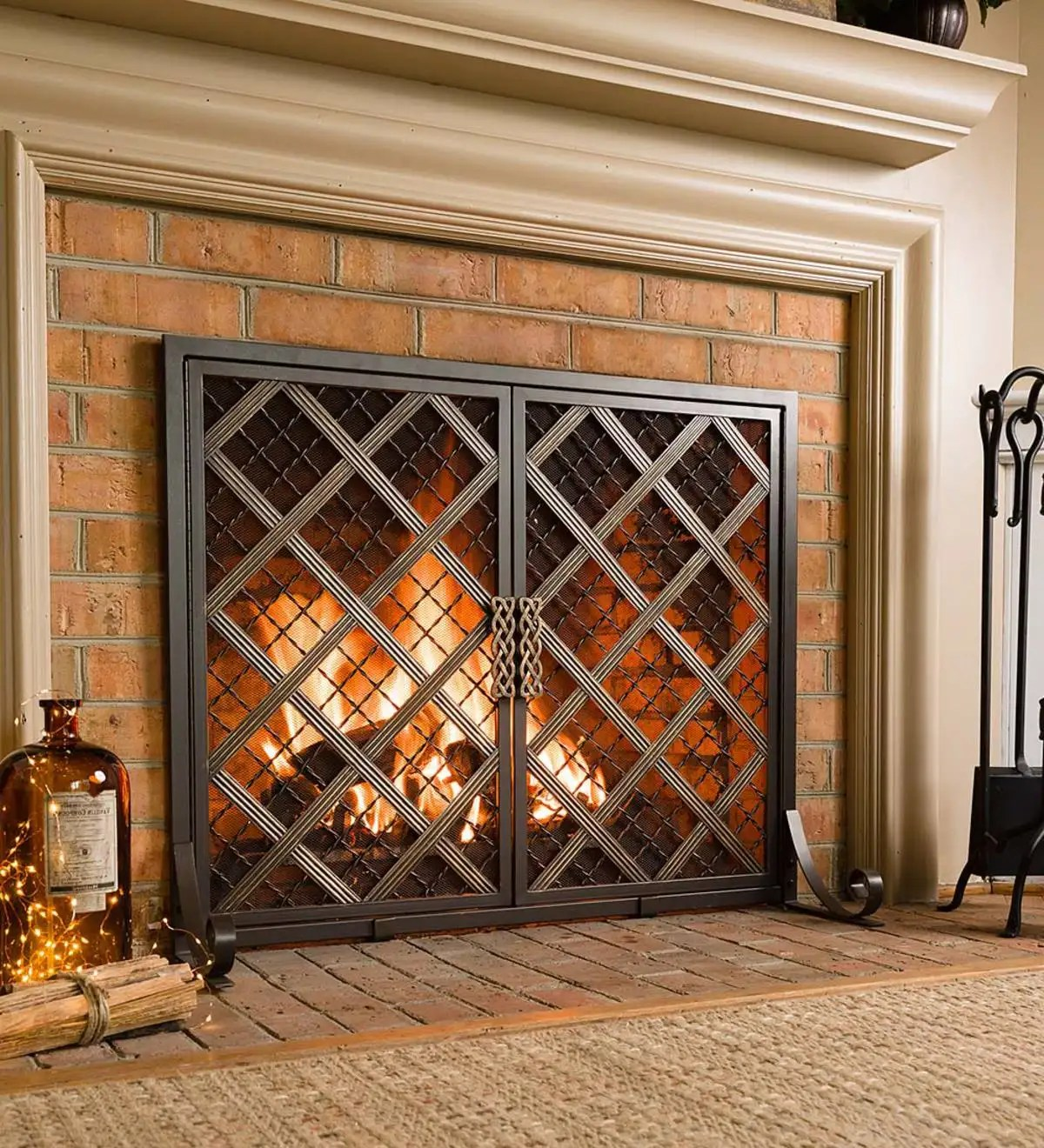 Small Fireplace Screens Under 30 Wide Mccormick Celtic Fireplace Screen