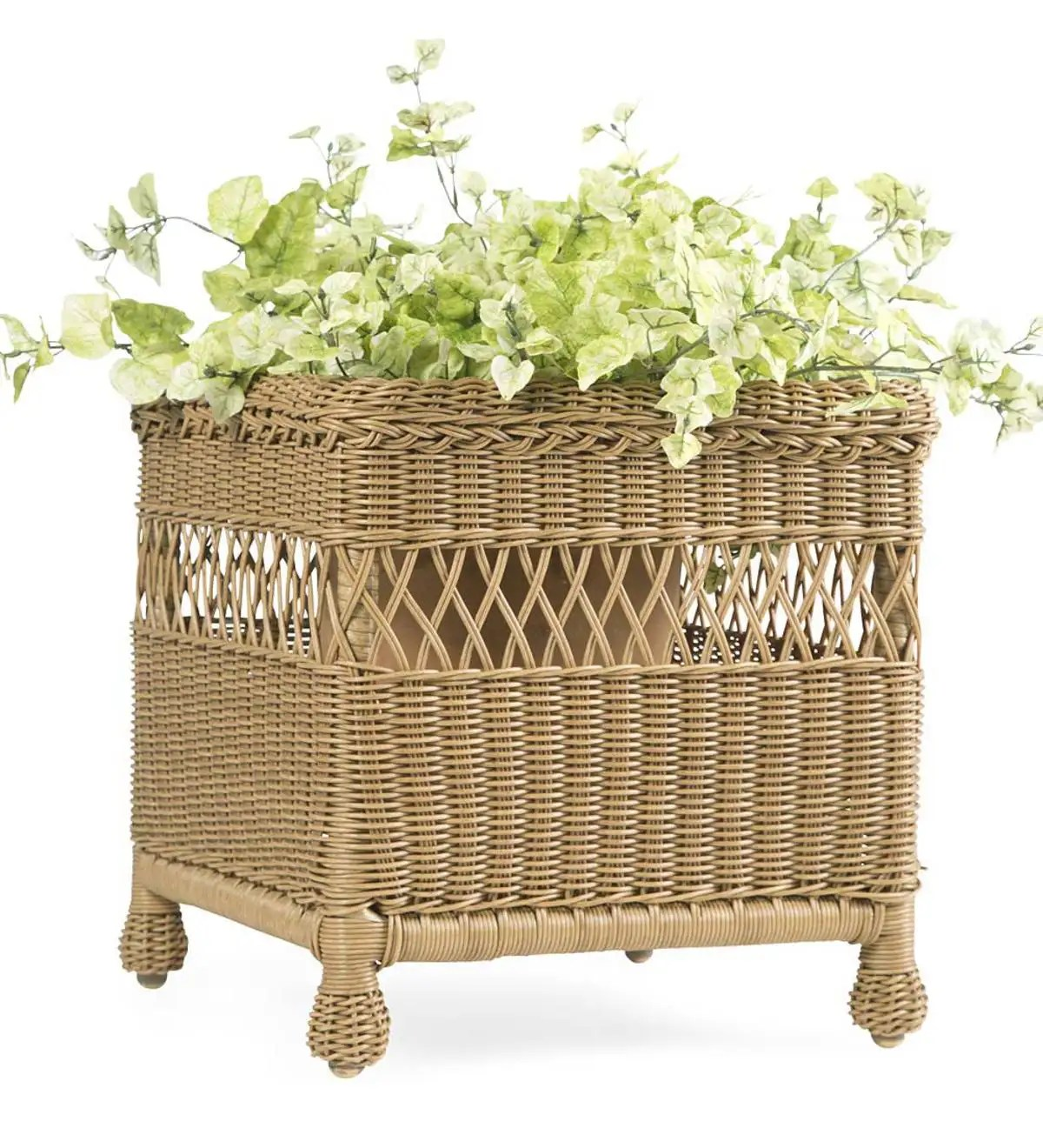 Planting Tables For Sale Easy Care Resin Wicker Square Planter Plowhearth