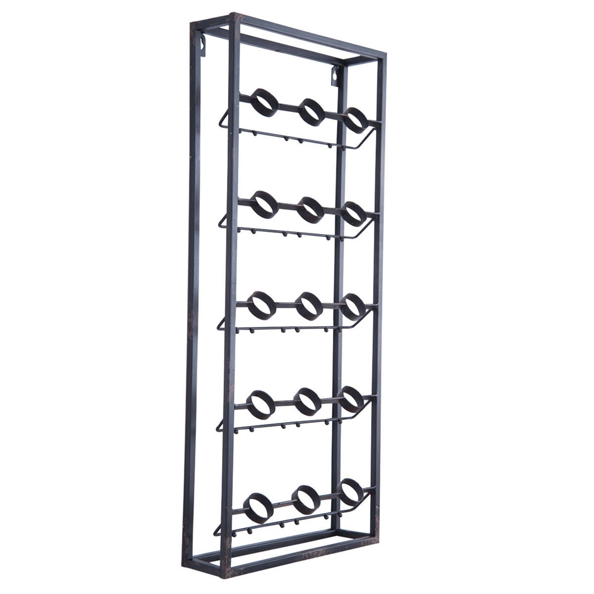 Metal Wine Racks For Wall Metal Grid Wall Wine Rack Plum And Post