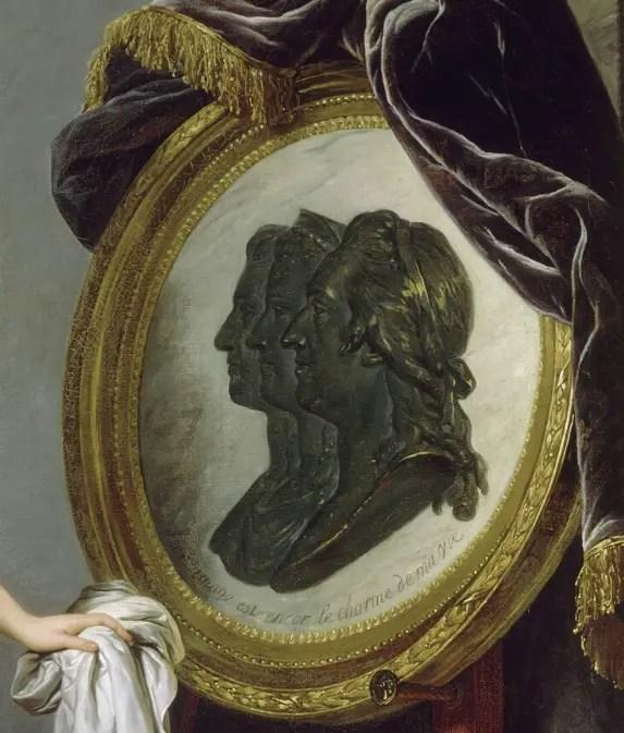 Détail portrait d'Adélaïde par Labille-Guiard