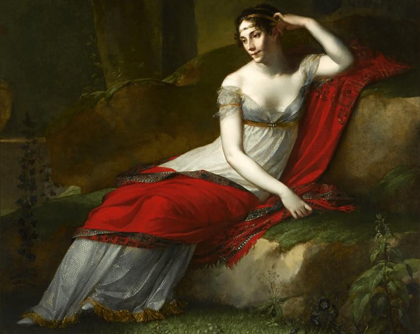 Détail du portrait de l'Impératrice Joséphine par Pierre-Paul Prud'hon