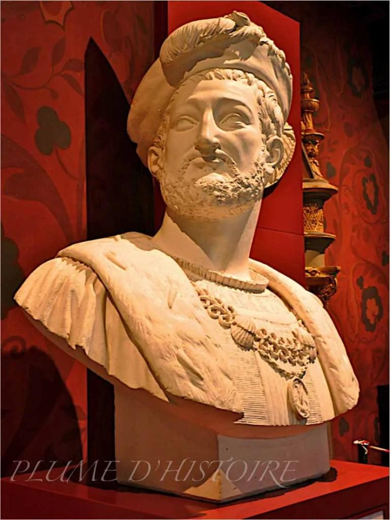 Buste de François Ier au château de Blois